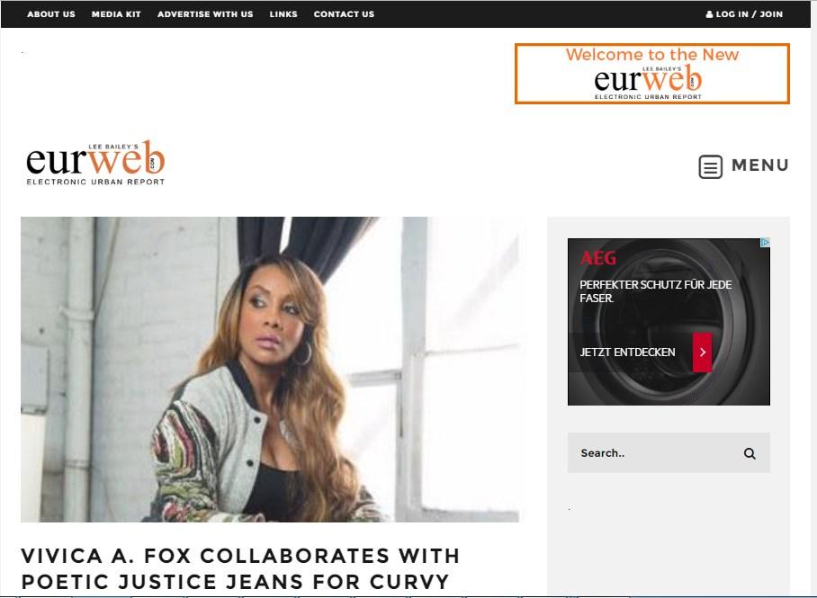 VIVICA A. FOX COLLABORATES WITH POETIC JUSTICE JEANS FOR CURVY WOMEN